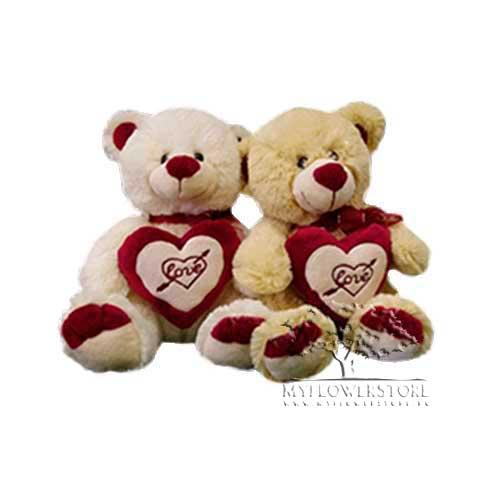 Мягкая игрушка Медвежонок с сердечком Love и бантом