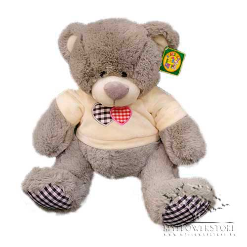Мягкая игрушка Мишка косолапый два сердечка