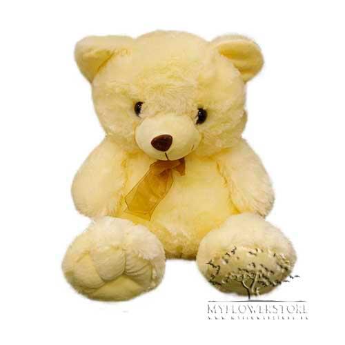 Мягкая игрушка Плюшевый медвежонок с атласным бантиком
