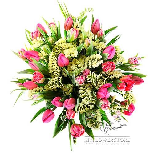 Букет из тюльпанов микс Эмилия