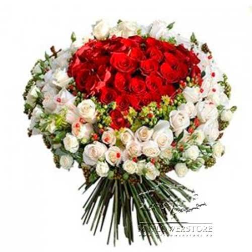151 роза красная и белая Неаполь