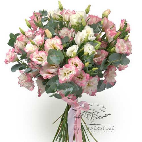 Букет из нежной розовой эустомы Краби