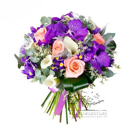 Букет из роз, калл и орхидей Дортмунд