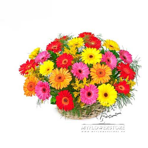 Цветочная композиция из ярких гербер Ессентуки