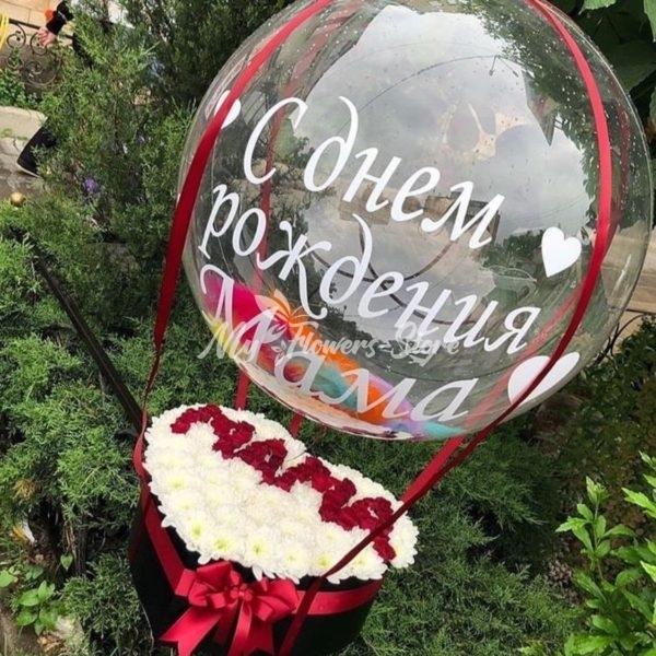 Цветы для мамы в коробке